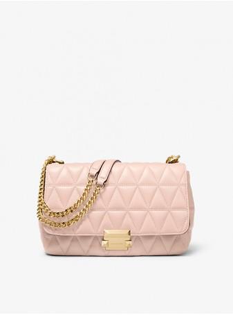 Стеганая Сумка Michael Kors Черная женская Sloan 30S7GSLL3L Soft Pink