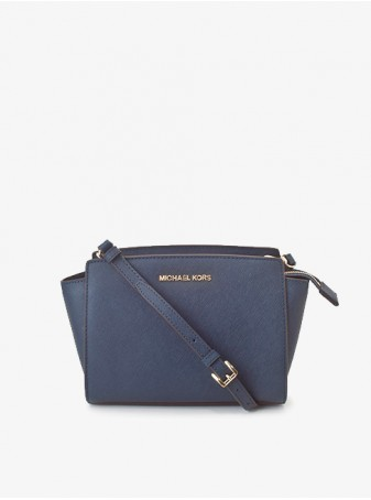 Сумка Michael Kors Crossbody Selma Stud Medium Синяя 30T3GLMM2L Navy