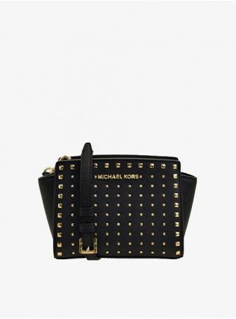 Сумка Michael Kors Черная Сельма Crossbody Mini 35H8GSMC2L Black
